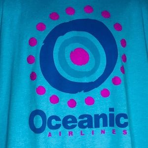 Lost Oceanic Airlines Logo Adult Teal Blue XL